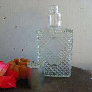 Vintage OLD CHARTER Liquor Glass Bottle